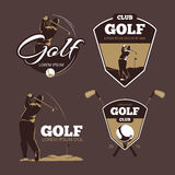 Modelli di logo di vettore del country club di golf Fotografia Stock Libera da Diritti