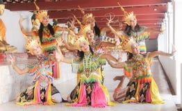 Modelli di Manohra: MANOHRA è danza popolare nel sud della Tailandia a T Fotografia Stock Libera da Diritti