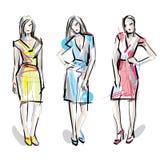 modelli di modo luminosi di colori bianchi abbozzo Immagine Stock