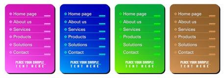 Modelli di percorso di Web illustrazione di stock