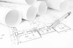 Modelli di piano della costruzione Immagine Stock