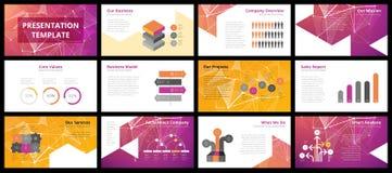 Modelli di presentazione di affari Immagine Stock