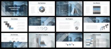 Modelli di presentazione di affari Fotografia Stock