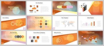 Modelli di presentazione di affari Immagini Stock