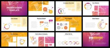 Modelli di presentazione di affari Fotografia Stock Libera da Diritti