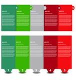 Modelli di presentazione con le caselle di testo Fotografie Stock