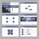Modelli di presentazione di Violet Abstract, insieme piano di progettazione del modello degli elementi di Infographic Immagine Stock