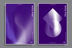 Modelli di progettazione con le forme vibranti di pendenza Immagini Stock