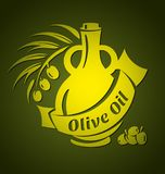 Modelli di progettazione dell'olio d'oliva di vettore per la vostra progettazione Fotografie Stock