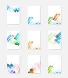 Modelli di progettazione della copertura dell'opuscolo Fotografia Stock