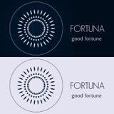Modelli di progettazione nei colori blu e grigi Logo creativo della mandala, icona, emblema, simbolo Fotografia Stock Libera da Diritti