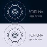 Modelli di progettazione nei colori blu e grigi Logo creativo della mandala, icona, emblema, simbolo Immagini Stock Libere da Diritti