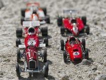 Modelli di scala dell'vecchie automobili Immagini Stock