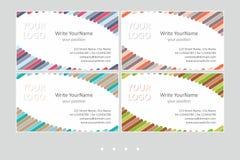 Modelli di vettore del biglietto da visita di Minimalistic Progettazione geometrica universale con l'accento di colore - appena p royalty illustrazione gratis
