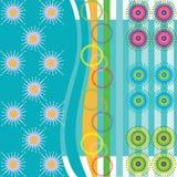 Modelli di vettore dell'anemone Immagini Stock