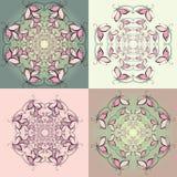 Modelli di vettore delle farfalle rosa decorative royalty illustrazione gratis