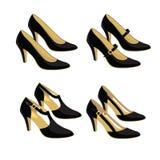 Modelli differenti delle scarpe classiche Fotografia Stock Libera da Diritti