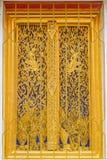 Modelli dorati della finestra Immagini Stock