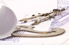 Modelli e strumenti di progettazione Fotografia Stock Libera da Diritti