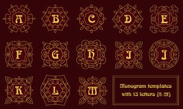 Modelli eleganti di progettazione del monogramma con le lettere royalty illustrazione gratis