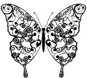 Modelli esotici dell'estratto della farfalla. illustrazione vettoriale