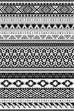 Modelli etnici di Amazon e dell'Azteco Un insieme di 12 oggetti illustrazione vettoriale