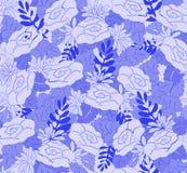 Modelli floreale astratto senza cuciture nei toni blu, per tessuto, carta da parati Immagine Stock