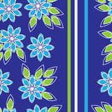 Modelli floreale senza cuciture con le bande verticali, per tessuto, carta da parati, biancheria da letto Vettore Fotografie Stock