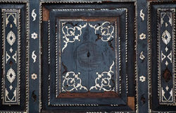 Modelli floreali dell'ottomano su legno Immagini Stock Libere da Diritti