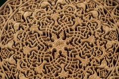 Modelli floreali dell'ottomano su legno Fotografie Stock