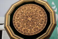 Modelli floreali dell'ottomano su legno Immagine Stock