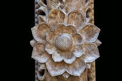 Modelli floreali scolpiti Fotografia Stock