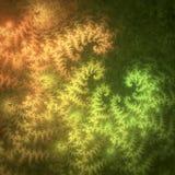 Modelli fogliati floreali naturali del bello estratto in verde ed in arancio illustrazione di stock