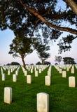 Modelli geometrici al cimitero nazionale di Rosecrans a San Diego Fotografie Stock