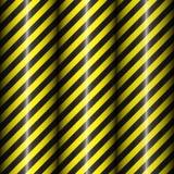 Modelli geometrici astratti con le bande nere e gialle diagonali Pendenza nera Illustrazione di vettore Fotografie Stock Libere da Diritti
