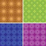 Modelli geometrici di colore senza cuciture - insieme Illustrazione Vettoriale