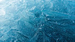 Modelli geometrici di superficie congelati Fotografia Stock Libera da Diritti