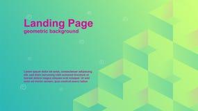 modelli geometrici di vettore del fondo di colore per la pagina d'atterraggio anche adatta a copertura di rivista royalty illustrazione gratis