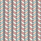 Modelli geometrici senza cuciture del fondo delle foglie nei colori pastelli su un fondo della grafite Fotografia Stock