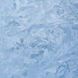 Modelli ghiacciati sul vetro Fotografie Stock Libere da Diritti
