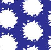 Modelli i punti bianchi senza cuciture su un fondo blu, per tessuto, carta ed altri usi, vettore Immagine Stock Libera da Diritti