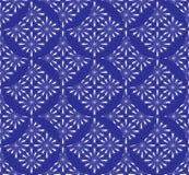 Modelli l'estratto senza cuciture dai cerchi di colore blu con un modello che si sovrappone per tessuto, carta da parati, mattone Fotografia Stock Libera da Diritti