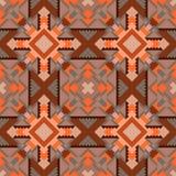 Modelli l'ornamento geometrico senza cuciture nei toni marroni dalle forme differenti, per linoleum, mattonelle, tessuto Immagine Stock Libera da Diritti