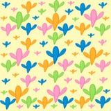 Modelli luminosi colorati del fondo giallo dei cactus illustrazione di stock