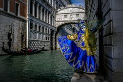 Modelli mascherati veneziani Fotografia Stock Libera da Diritti