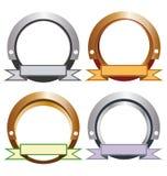 Modelli metallici dell'etichetta Fotografia Stock Libera da Diritti