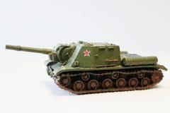 Modelli miniatura militari del carroarmato fotografia stock libera da diritti