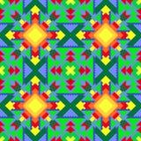 Modelli multicolore senza cuciture, ornamento dalle forme differenti, geometriche Per i tappeti, carta da imballaggio, decorazion Fotografia Stock Libera da Diritti
