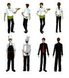 Modelli per il disegno uniforme del ristorante Immagini Stock Libere da Diritti