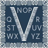 Modelli per il ritaglio delle lettere Alfabeto inglese completo Può essere usato per il taglio del laser Fotografia Stock Libera da Diritti